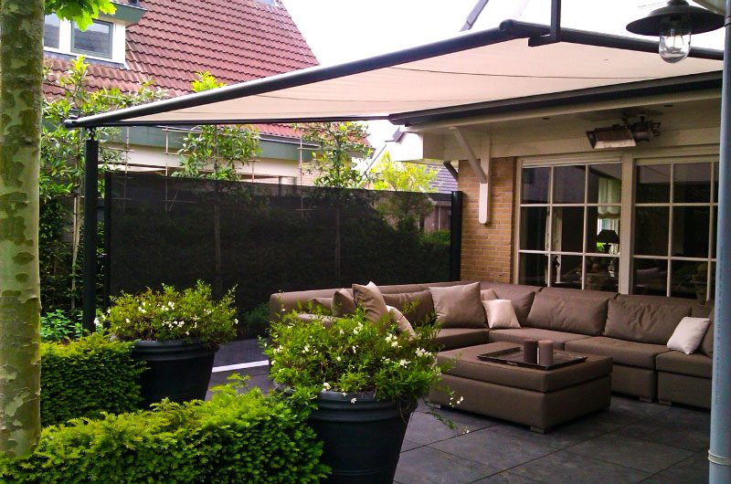 horizontaal veranda overkapping
