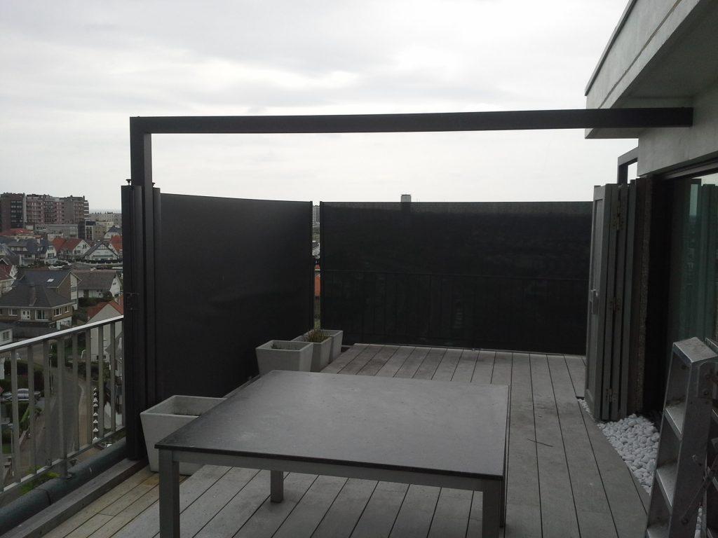 windscherm balkon kleur zwart