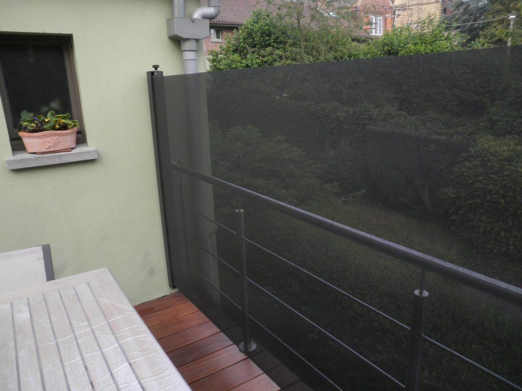 Windscherm balkon - winddoek met uitstekende doorkijk.