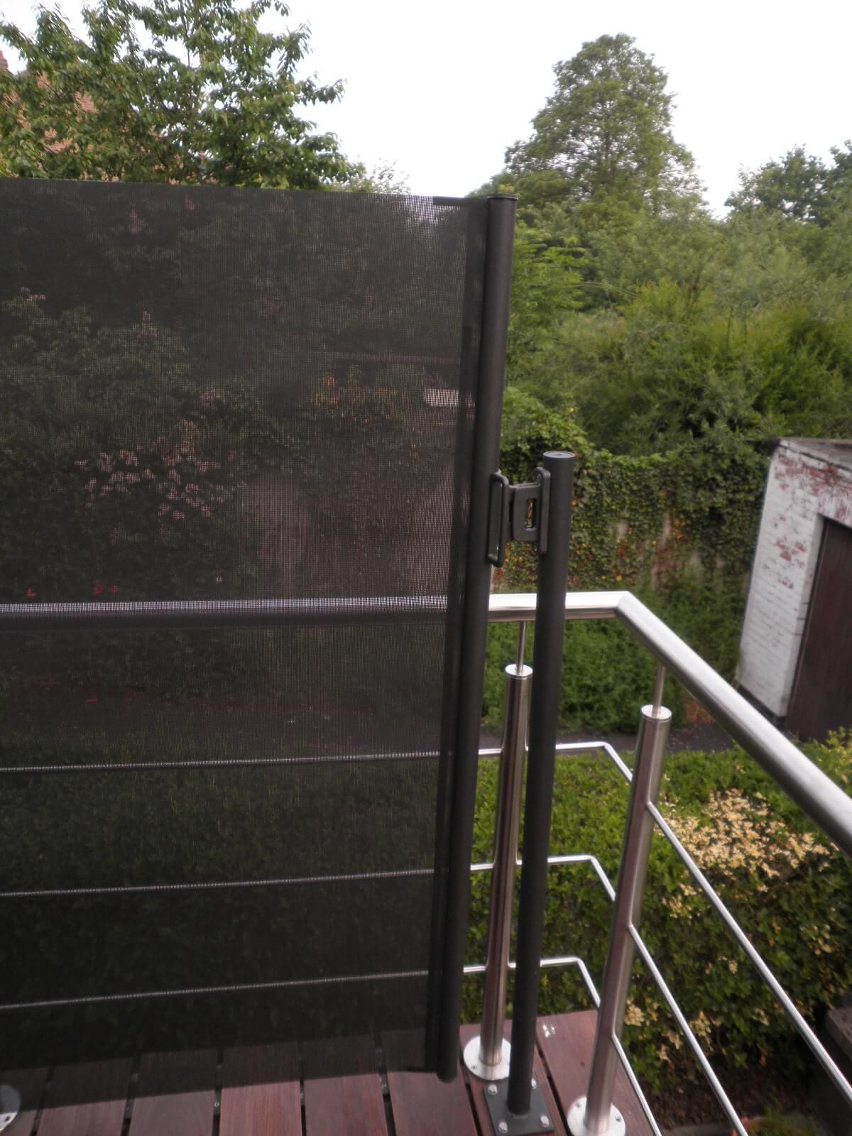 Oprolbaar windscherm, balkon