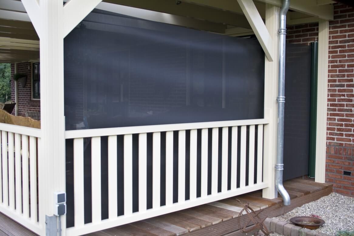 uitschuitbaar windscherm veranda-terras