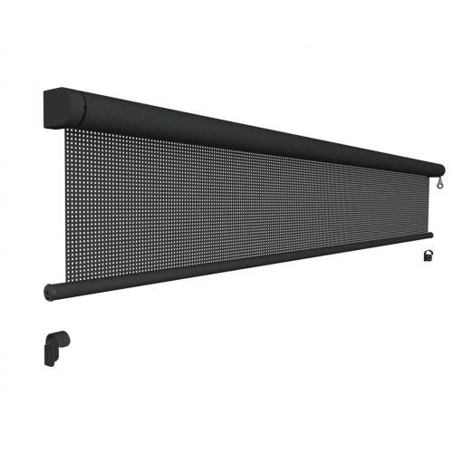 uitschuifbaar-oprolbaar-uittrekbaar windscherm verticaal basis met slinger