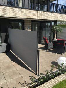 Terras-windscherm vrijstaand -privacy doek