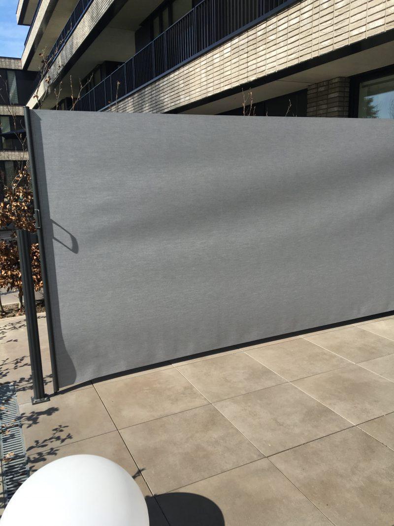 terras-windscherm-privacydoek-gemêleerd grijs